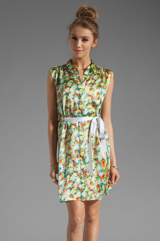 Rebecca Minkoff Aruba Dress Shirt in Celedon