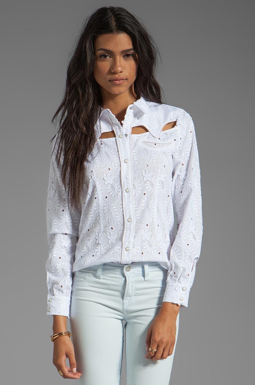 Rebecca Minkoff Cowboy Shirt in Chalk