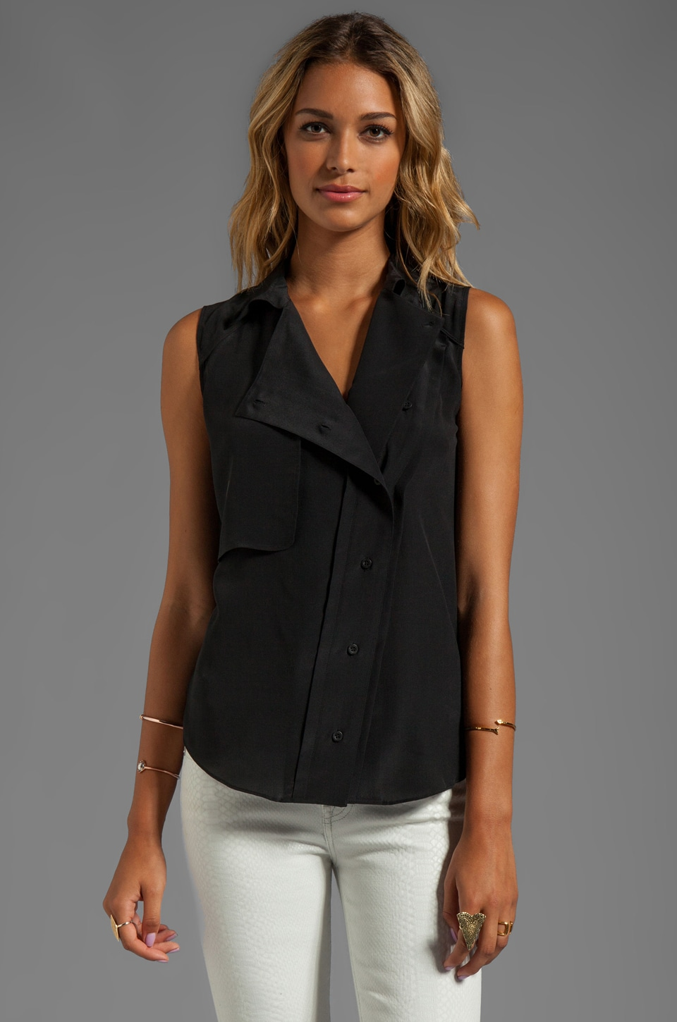 Rebecca Minkoff Pilot Top in Black