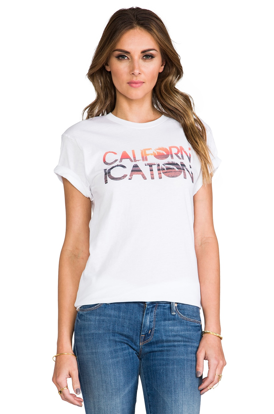 Rebecca Minkoff Californication Tee in White