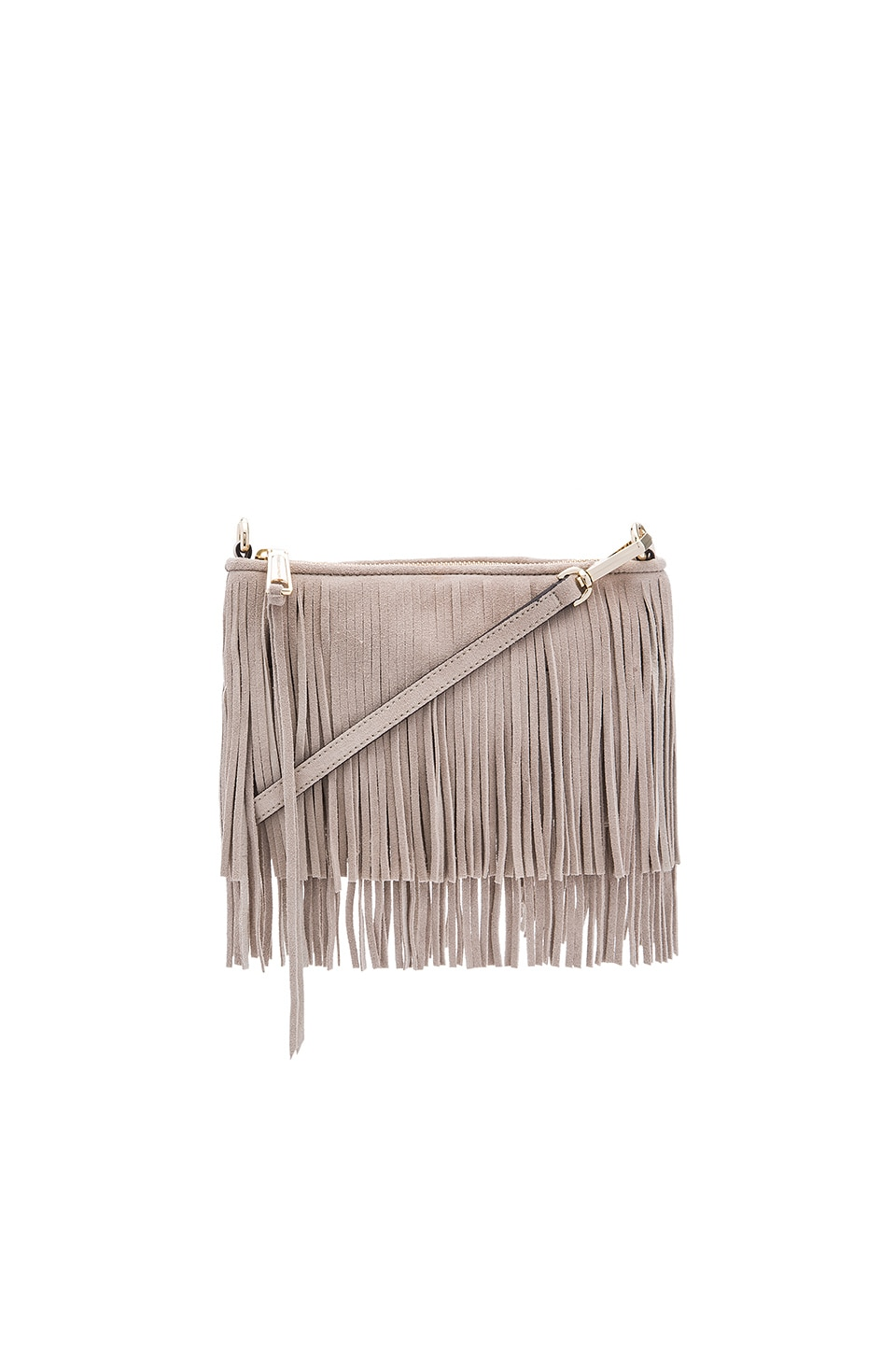 Rebecca Minkoff Suede Finn Crossbody Bag in Khaki