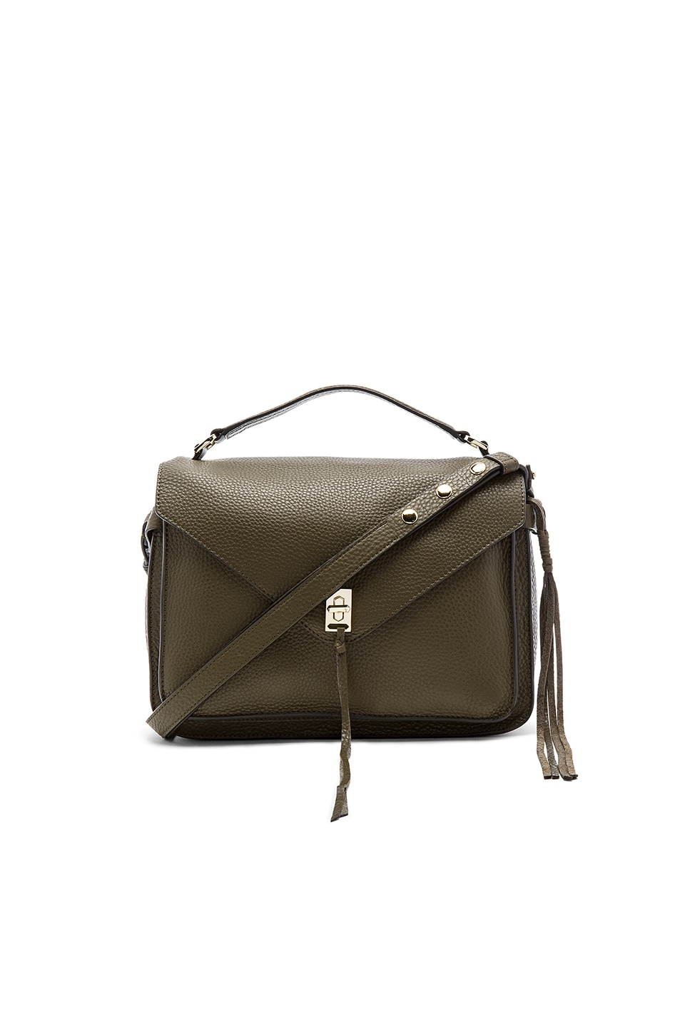 crazy price another chance on feet shots of Rebecca Minkoff Darren Messenger Bag in Olive | REVOLVE