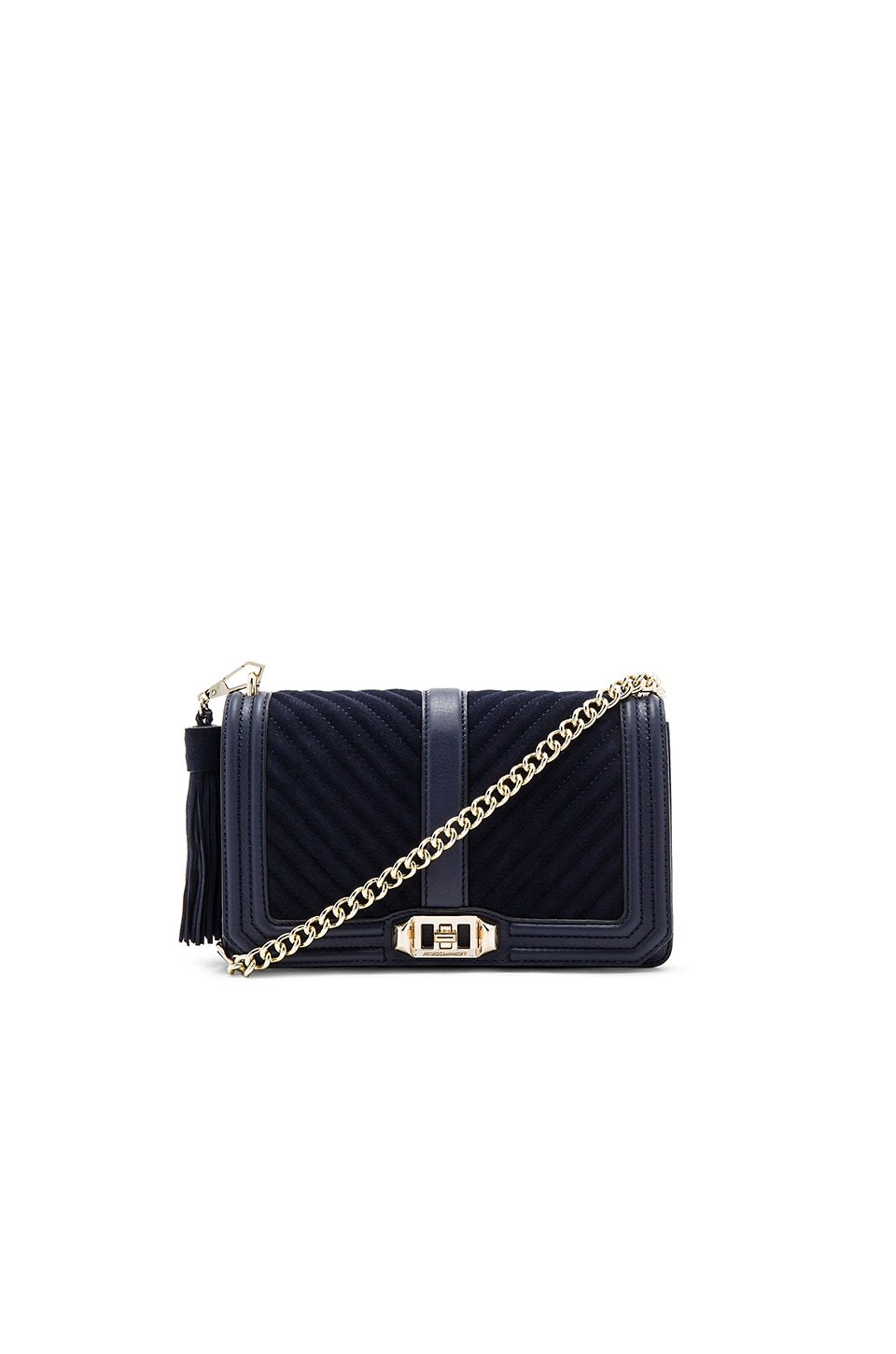 first rate pretty cheap outlet Rebecca Minkoff Chevron Quilted Love Crossbody Bag in Moon | REVOLVE
