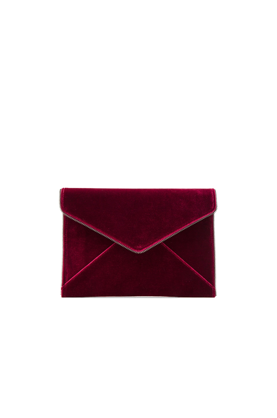 Rebecca Minkoff Leo Clutch in Soft Berry