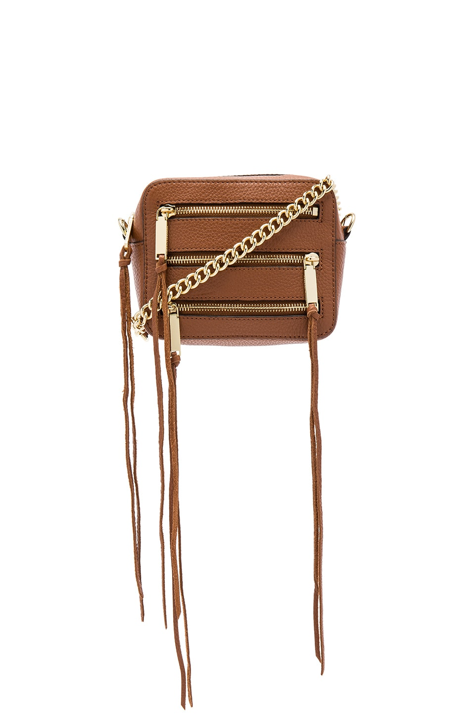 Rebecca Minkoff 4 Zip Moto Camera Bag in Almond