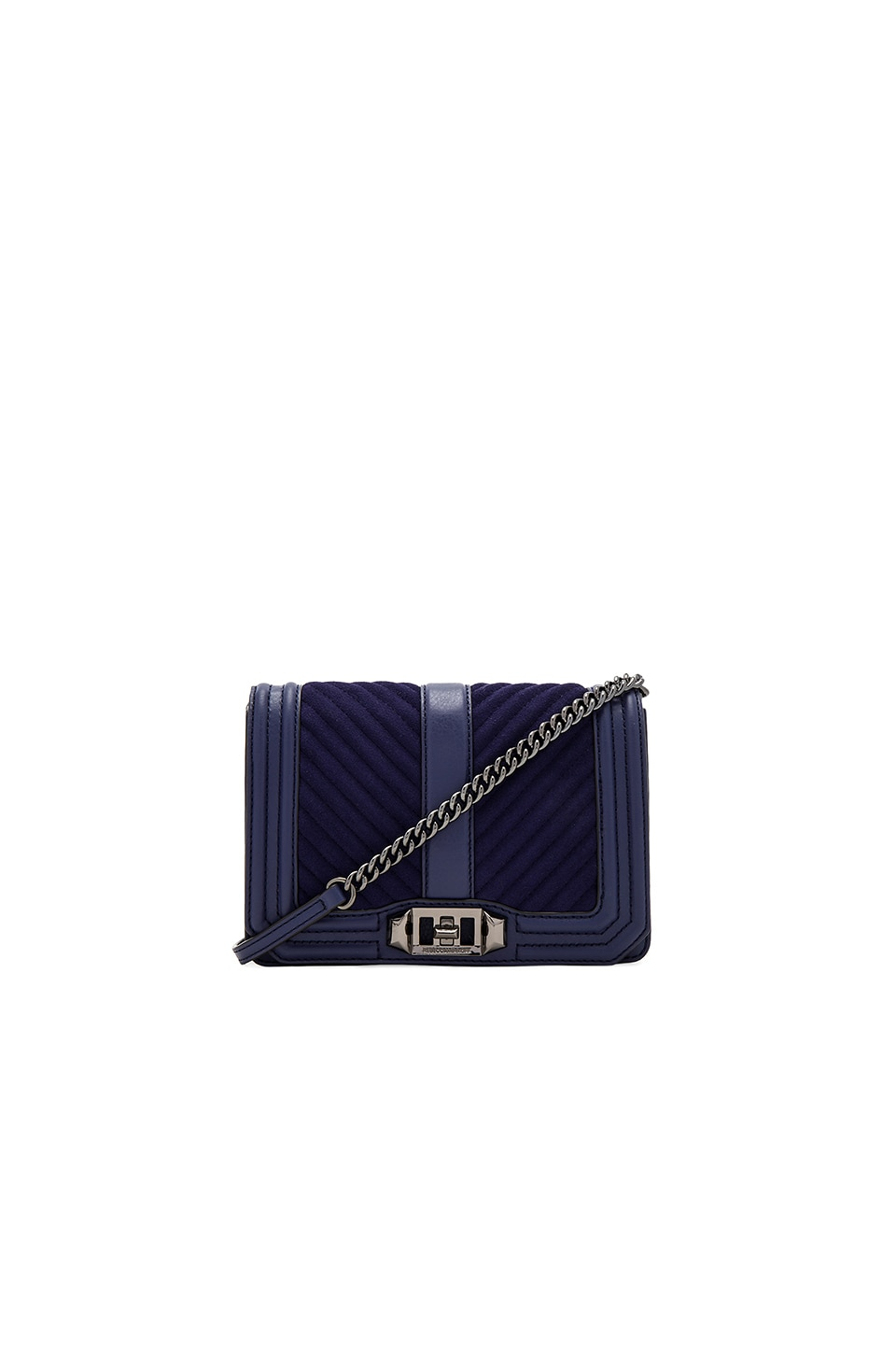 Rebecca Minkoff Chevron Quilt Small Love Bag in Eclipse