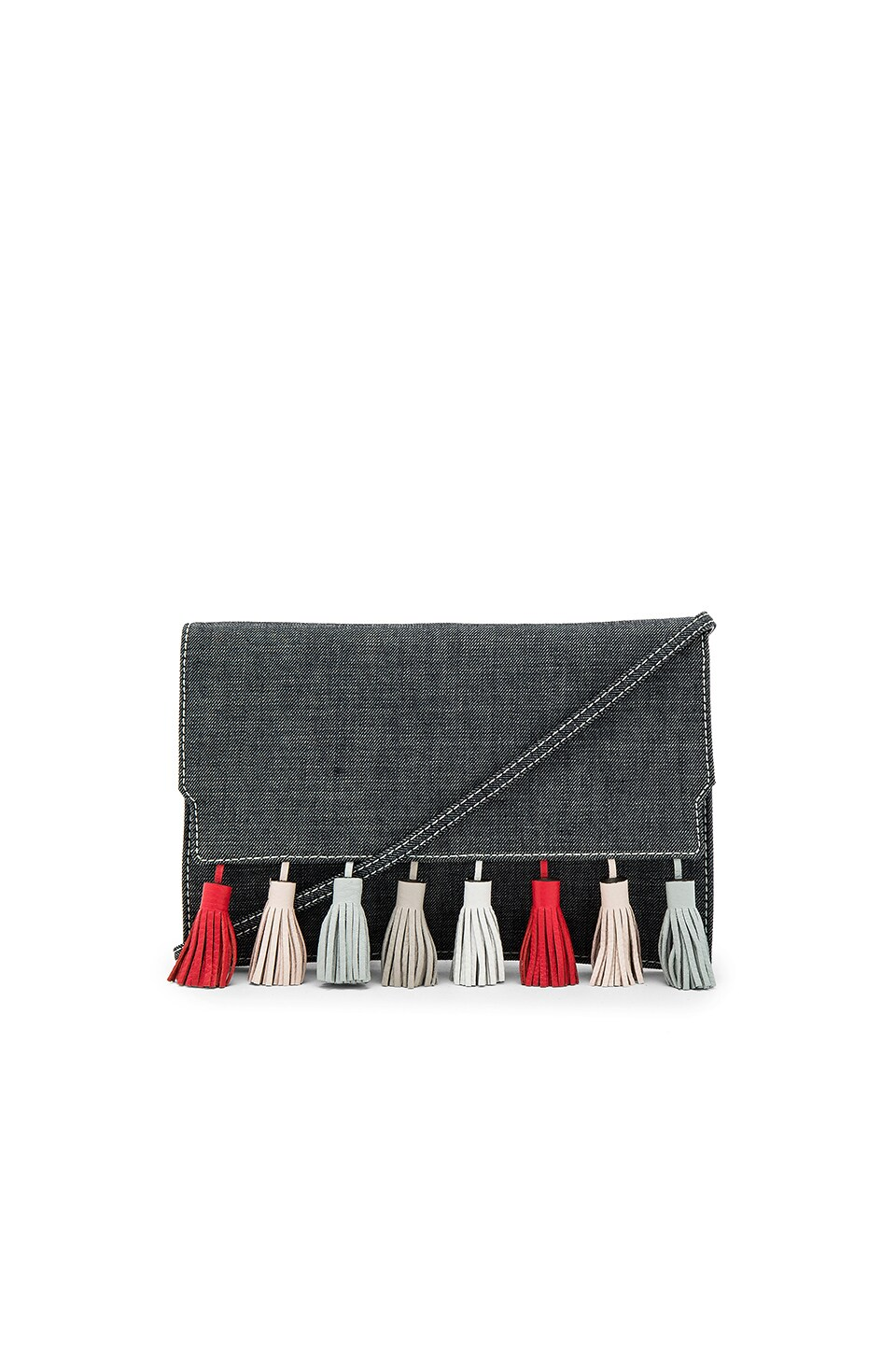 Rebecca Minkoff Sofia Clutch in Dark Denim Multi