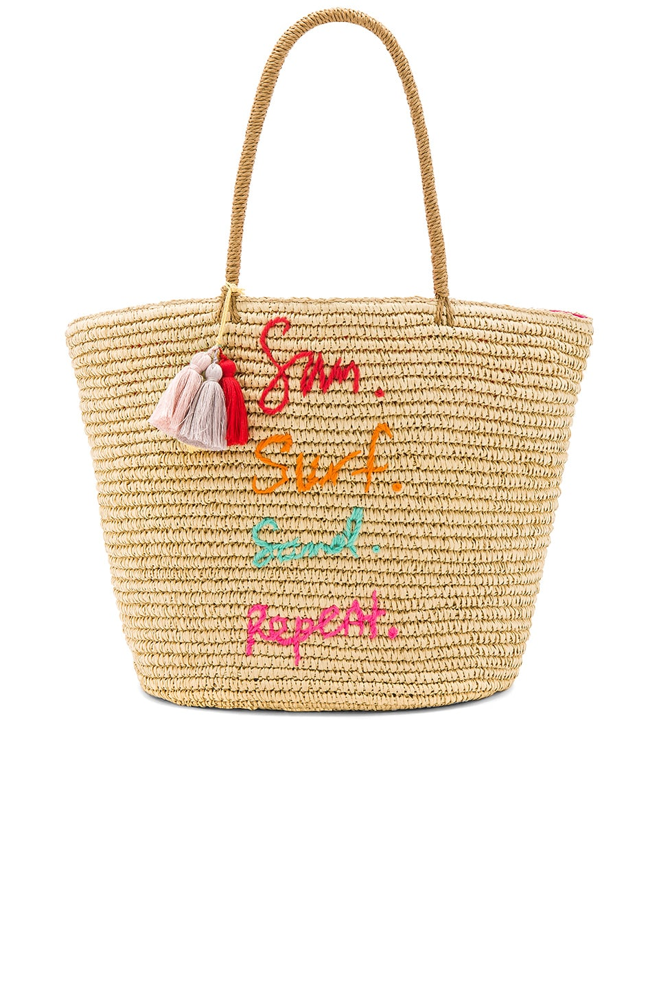 Rebecca Minkoff Sun Surf Sand Repeat Straw Tote in Natural