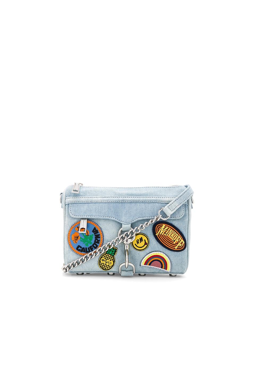 Rebecca Minkoff Mini Mac Bag in Light Denim
