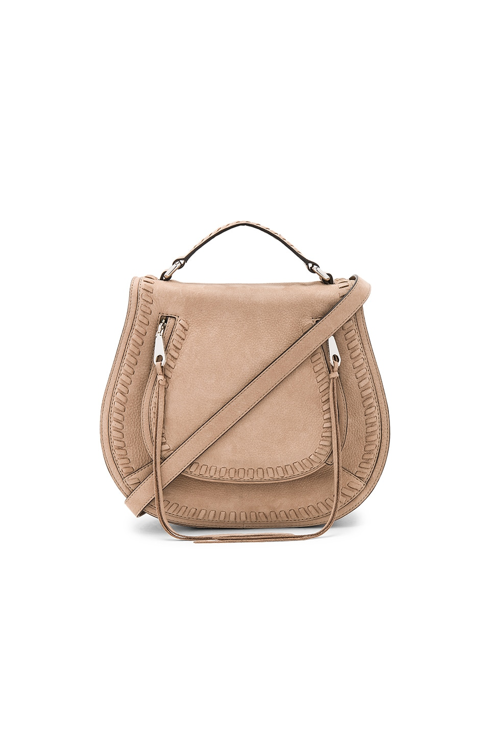 Rebecca Minkoff Small Vanity Saddle Bag in Sandstone