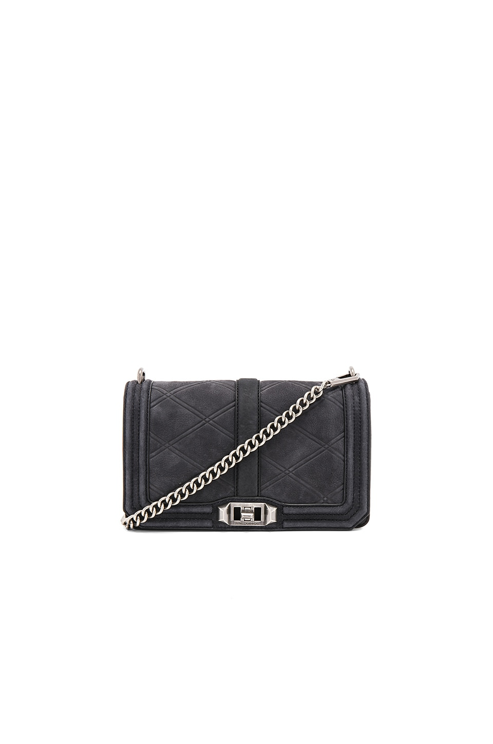 Rebecca Minkoff Embossed Love Crossbody in Black