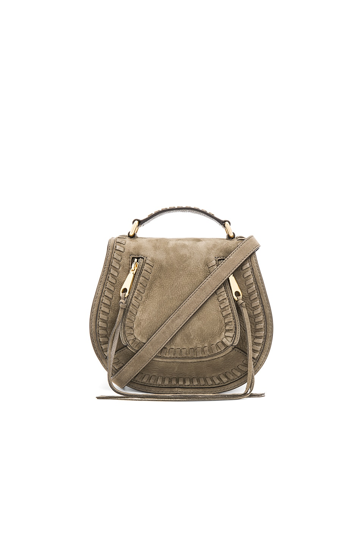 Rebecca Minkoff Small Vanity Saddle Bag in Olive