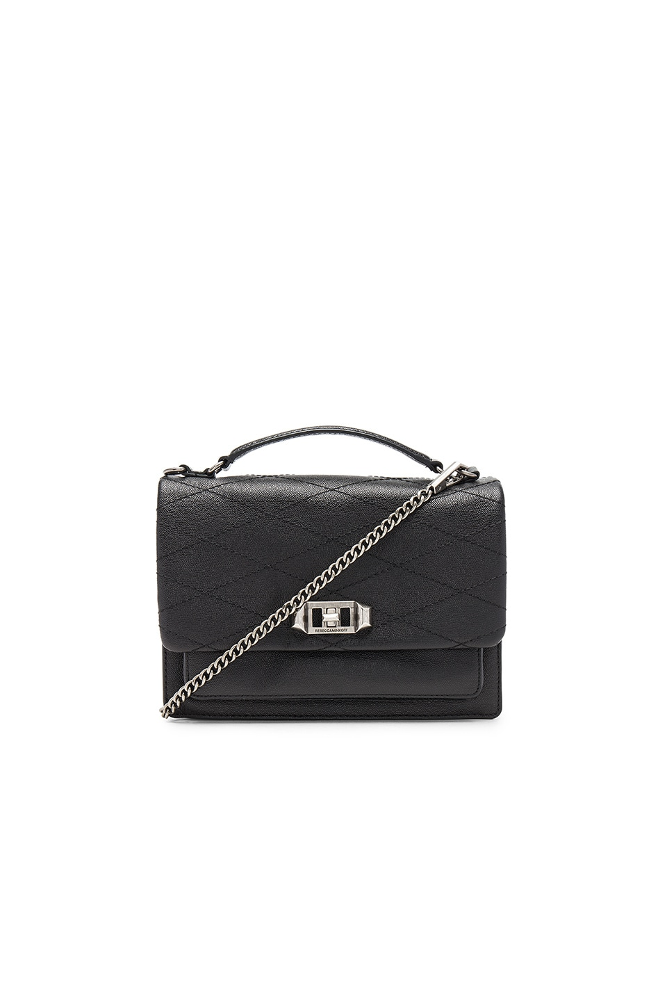 Rebecca Minkoff Je Taime Medium Crossbody in Black