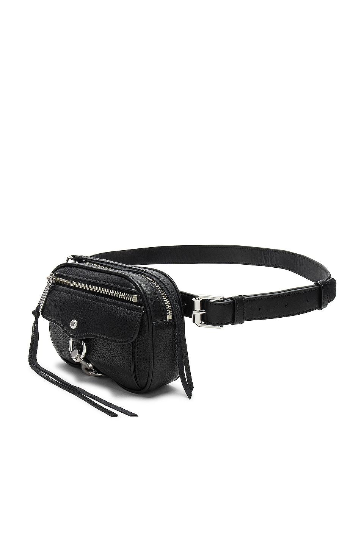 Rebecca Minkoff Blythe Pebbled Belt Bag in Black
