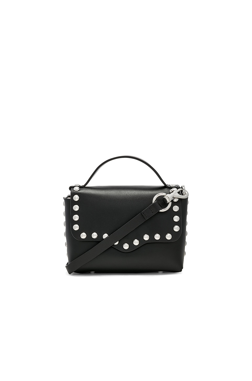 Rebecca Minkoff Blythe Small Flap Crossbody Bag in Black