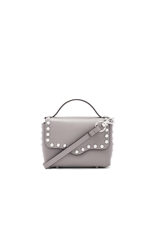 Rebecca Minkoff Blythe Small Flap Crossbody Bag in Grey