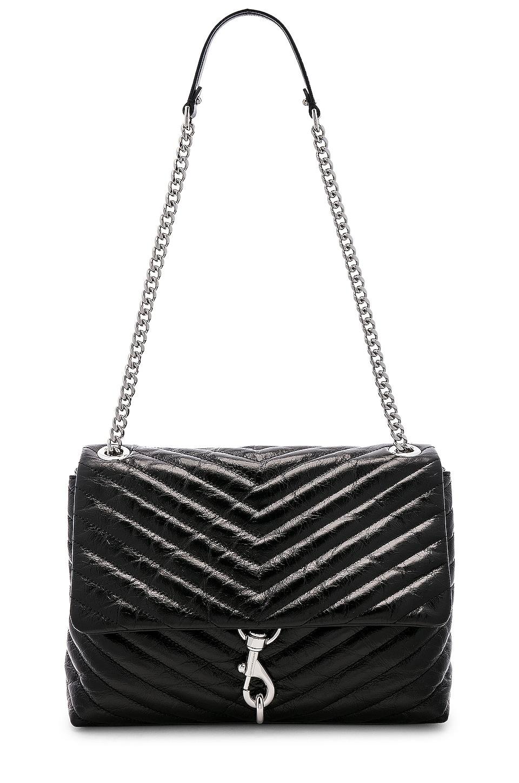 Rebecca Minkoff Edie Flap Shoulder Bag in Black