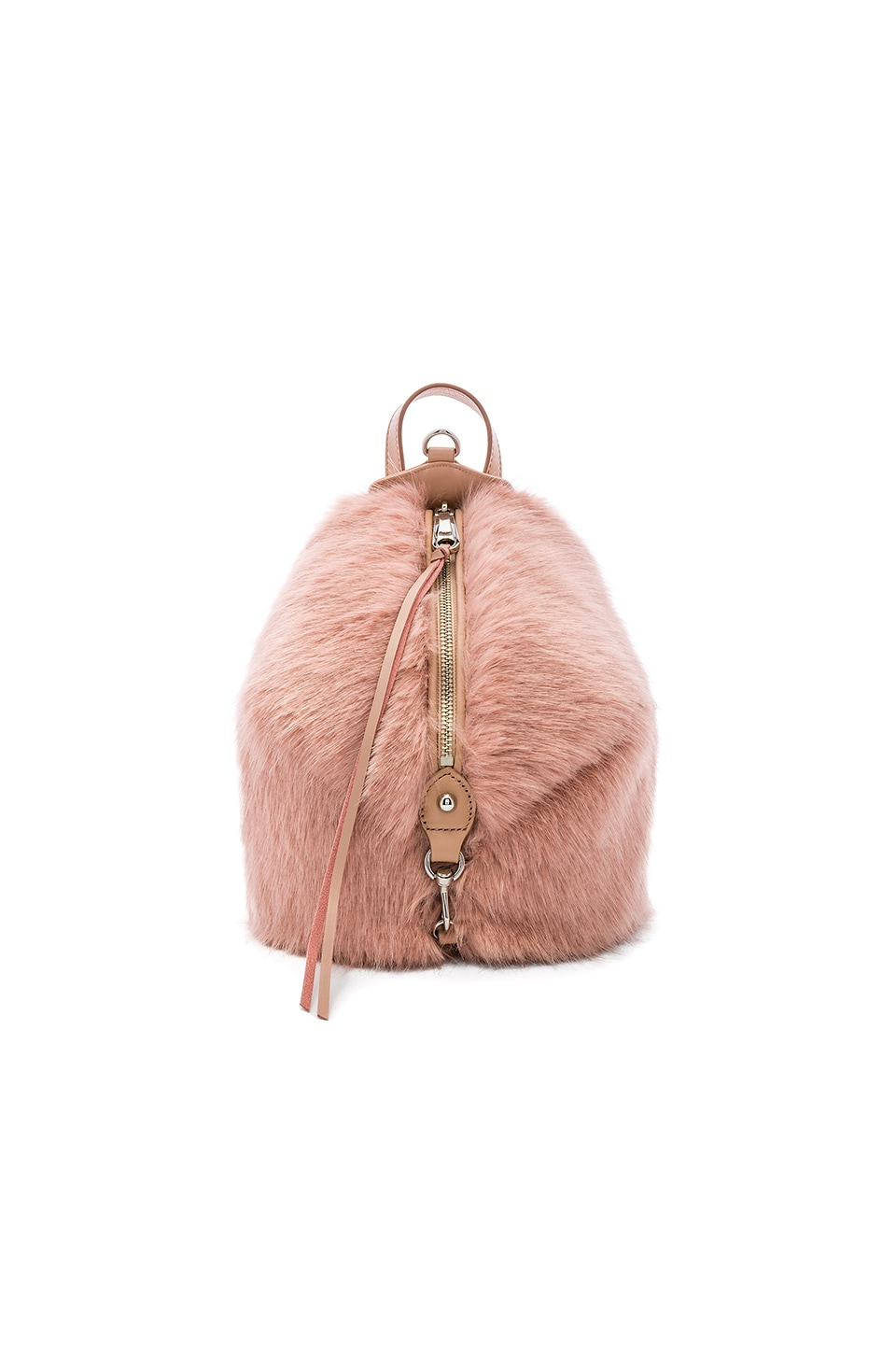 Rebecca Minkoff Faux Fur Mini Julian Backpack in Doe