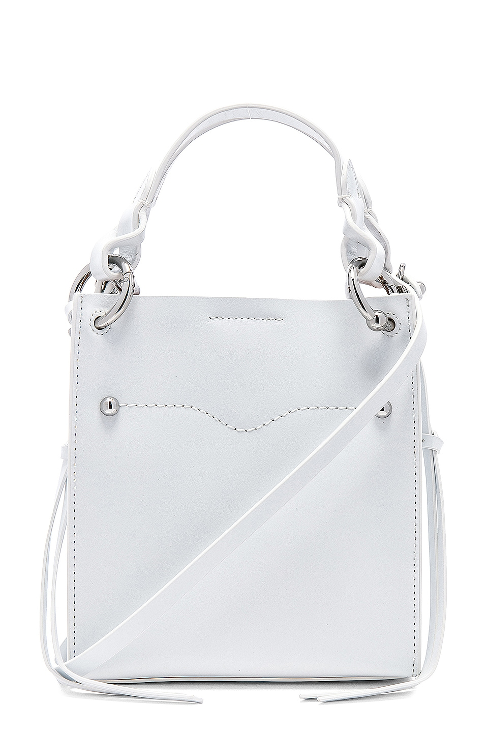 Rebecca Minkoff Kate Mini Tote in Optic White