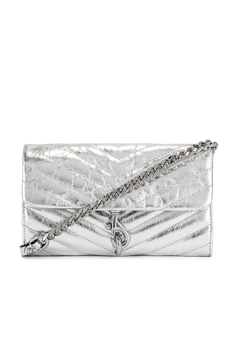 Rebecca Minkoff Edie Wallet On Chain Bag in Silver