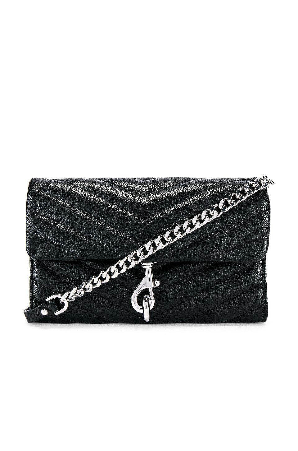 Rebecca Minkoff Edie Wallet On Chain Bag in Black