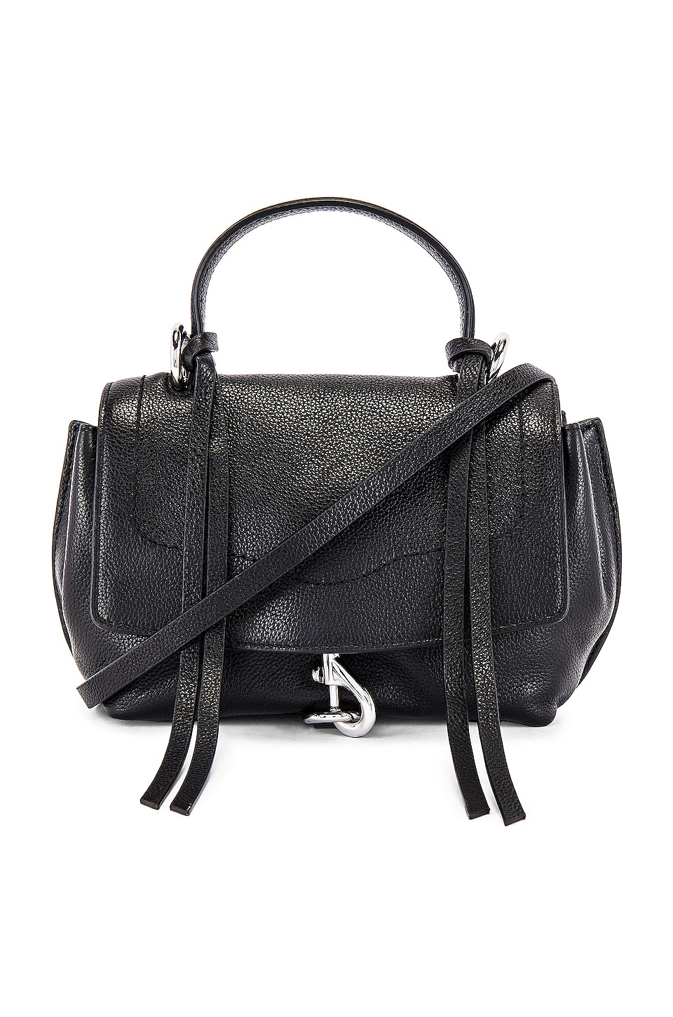 Rebecca Minkoff Stella Mini Flap Satchel in Black