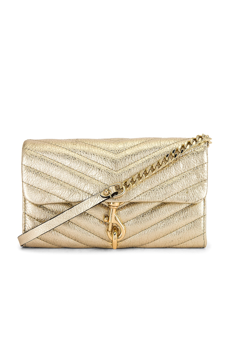 Rebecca Minkoff Edie Wallet On Chain in Gold