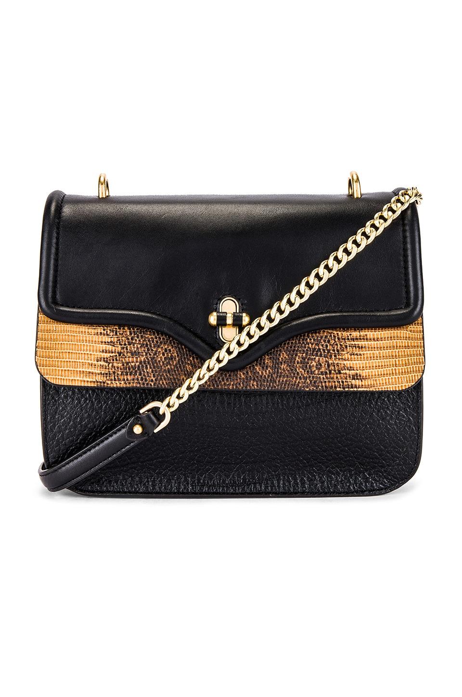 Rebecca Minkoff Phoebe Shoulder Bag in Black & Nutmeg