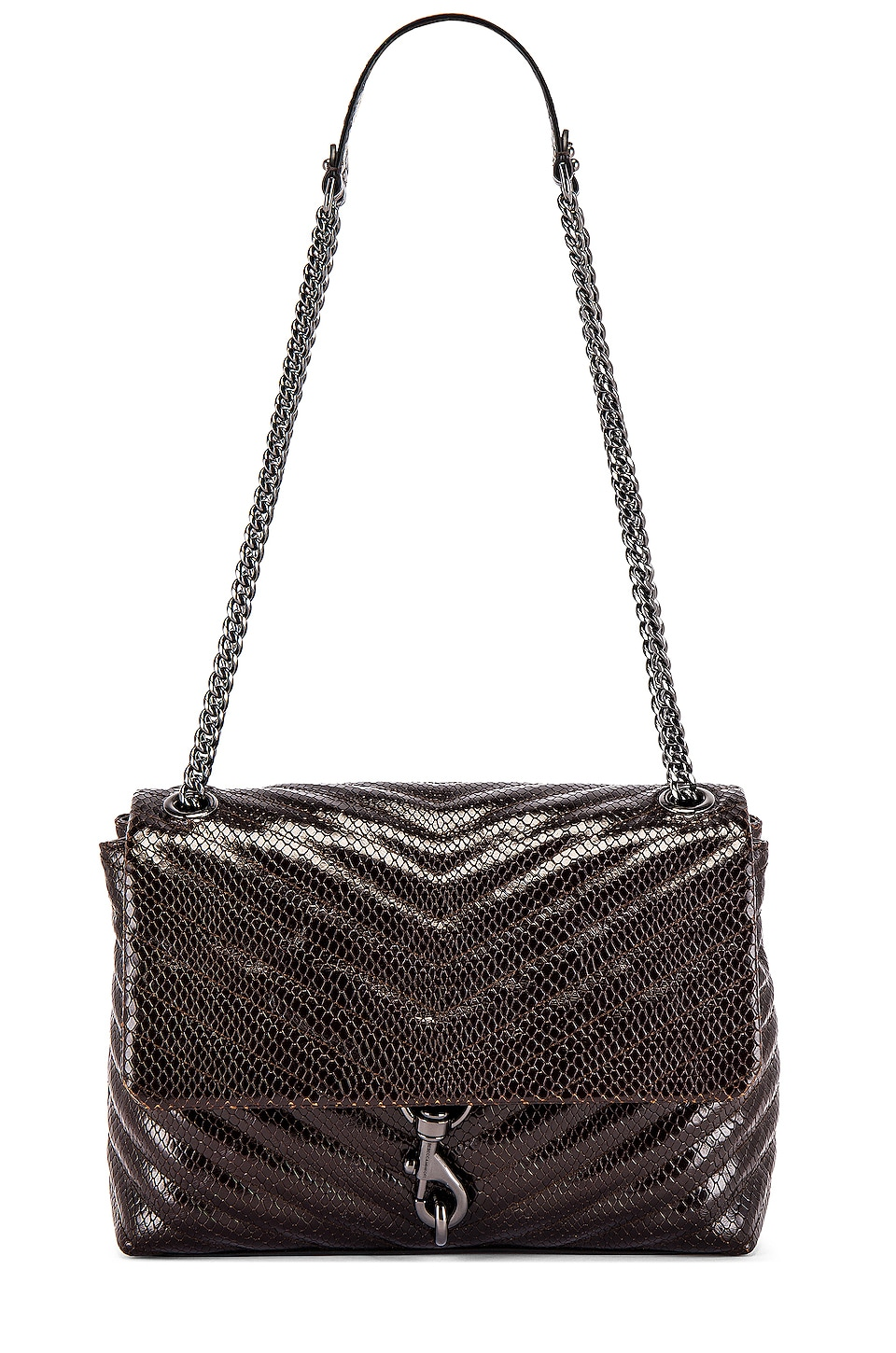 Rebecca Minkoff Edie Flap Shoulder Bag in Ganache