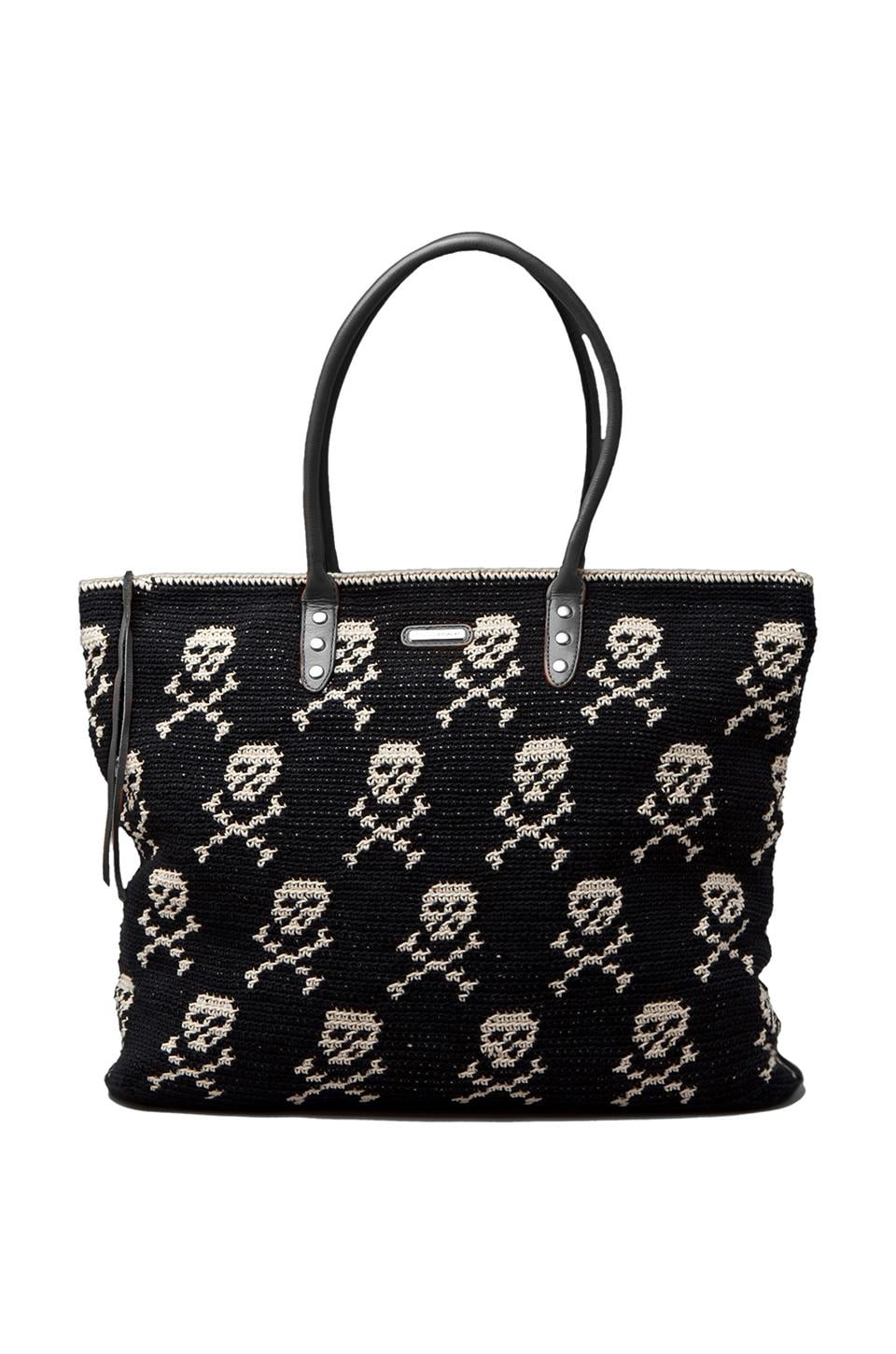Rebecca Minkoff East West Skull Tote in Black & White