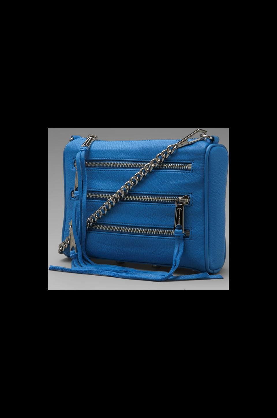 Rebecca Minkoff Mini 5 Zip in Cerulean