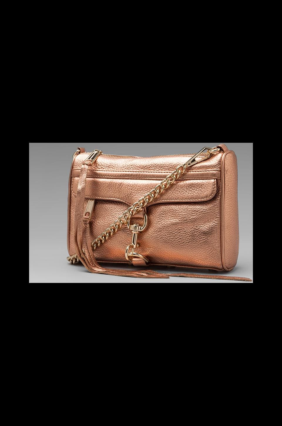 Rebecca Minkoff Mini MAC Clutch in Rose Gold