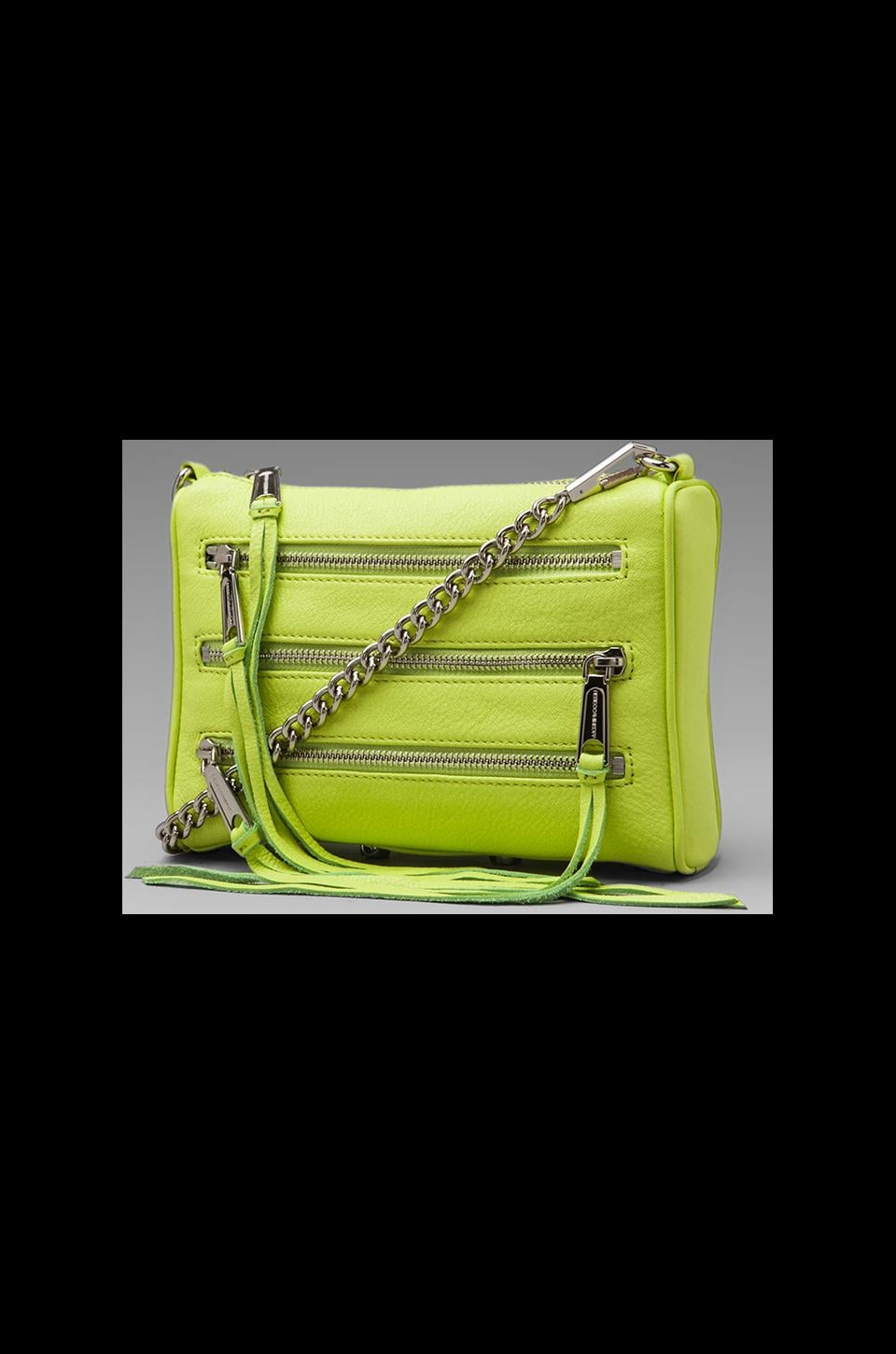 Rebecca Minkoff Mini 5 Zip in Lime
