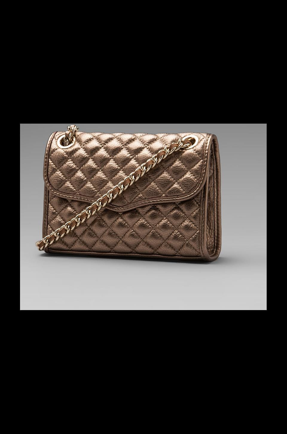 Rebecca Minkoff Diamond Quilt Mini Affair in Bronze