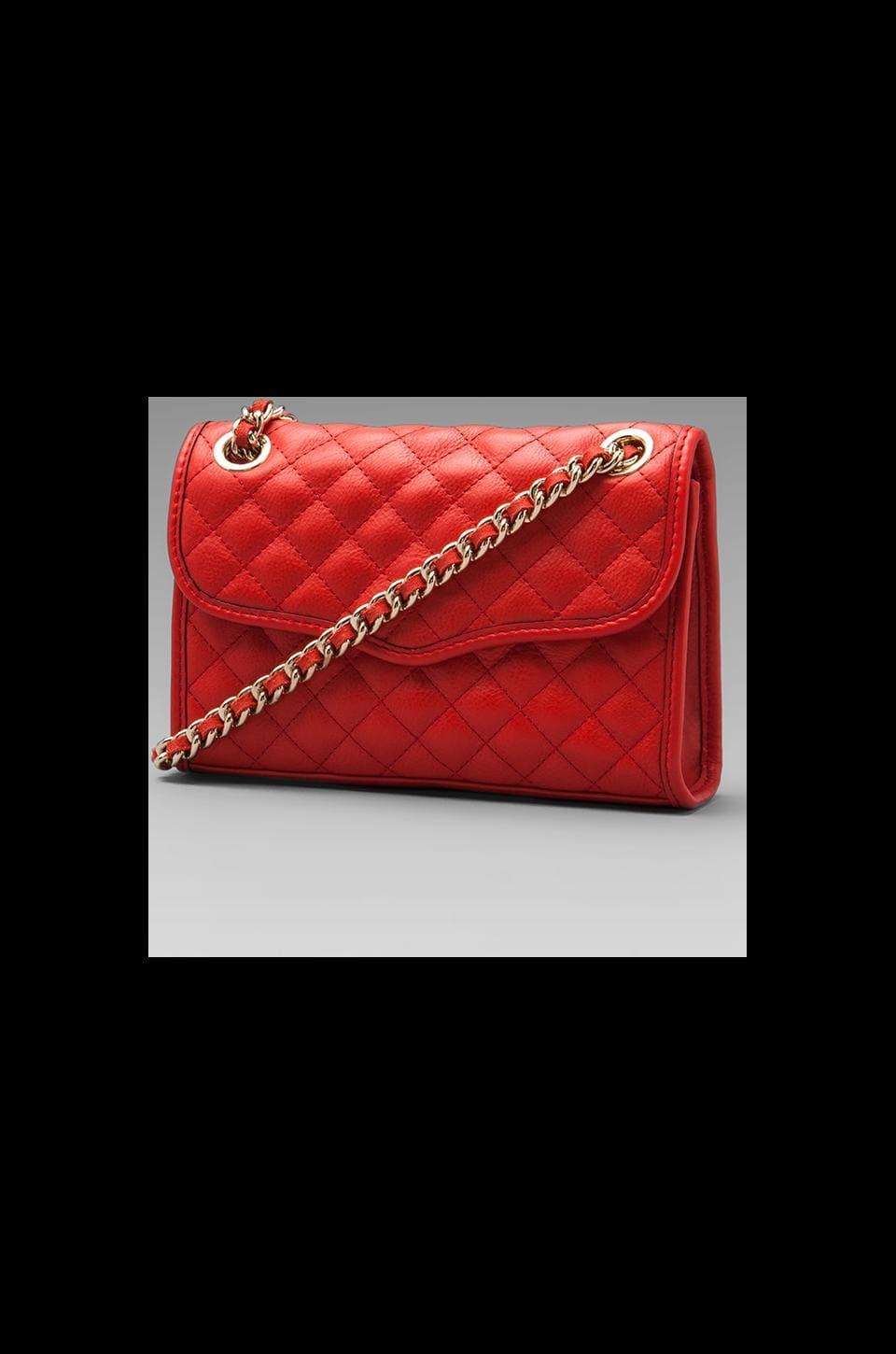 Rebecca Minkoff Diamond Quilt Mini Affair in Fire Engine