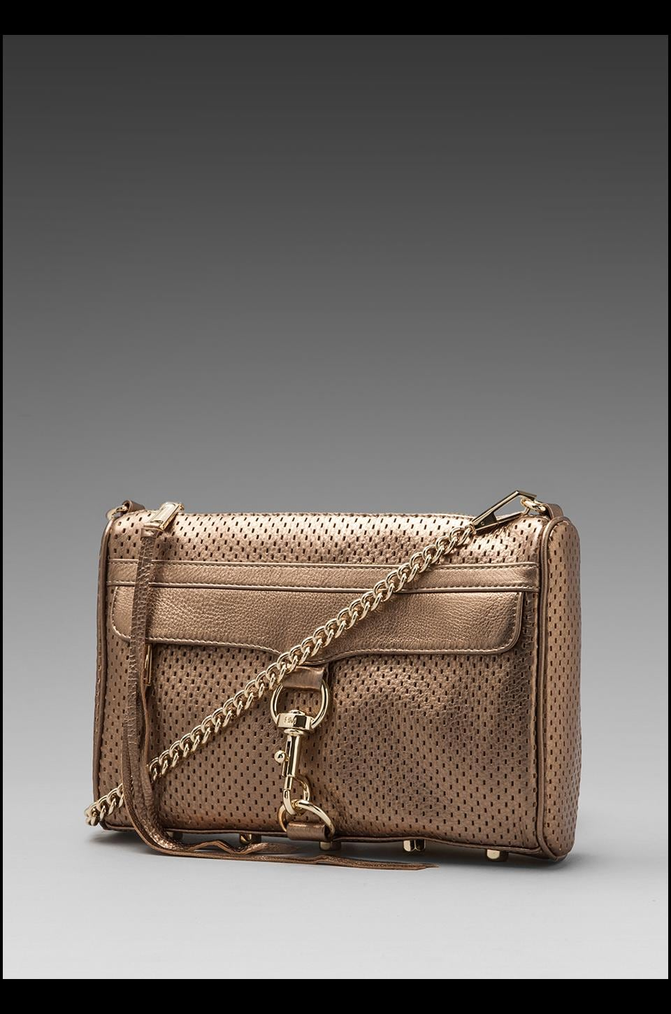 Rebecca Minkoff Mac Clutch in Bronze