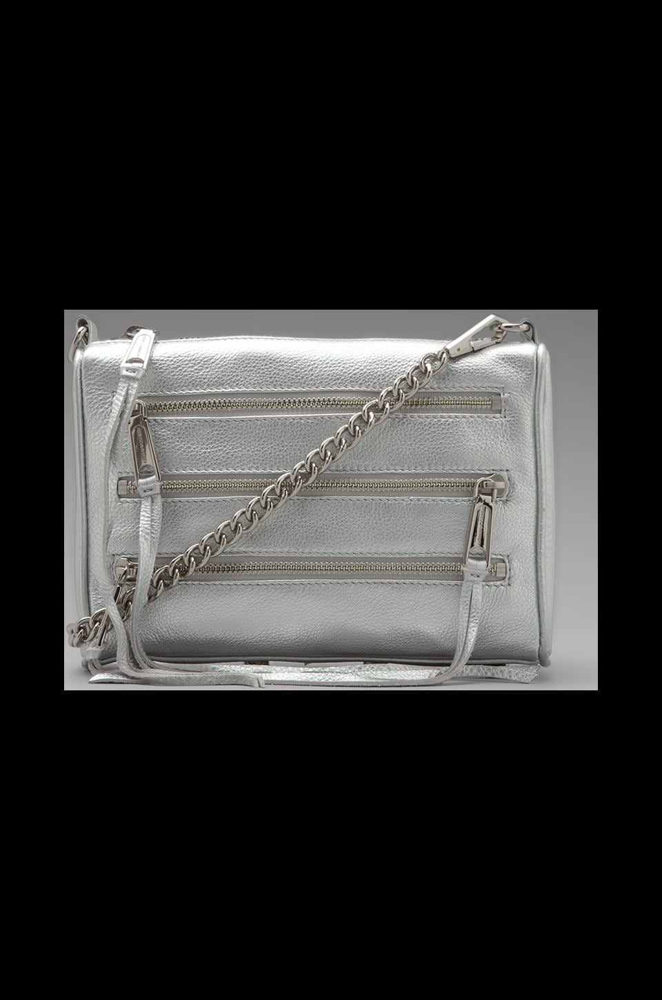 Rebecca Minkoff Mini 5 Zip Clutch in Silver