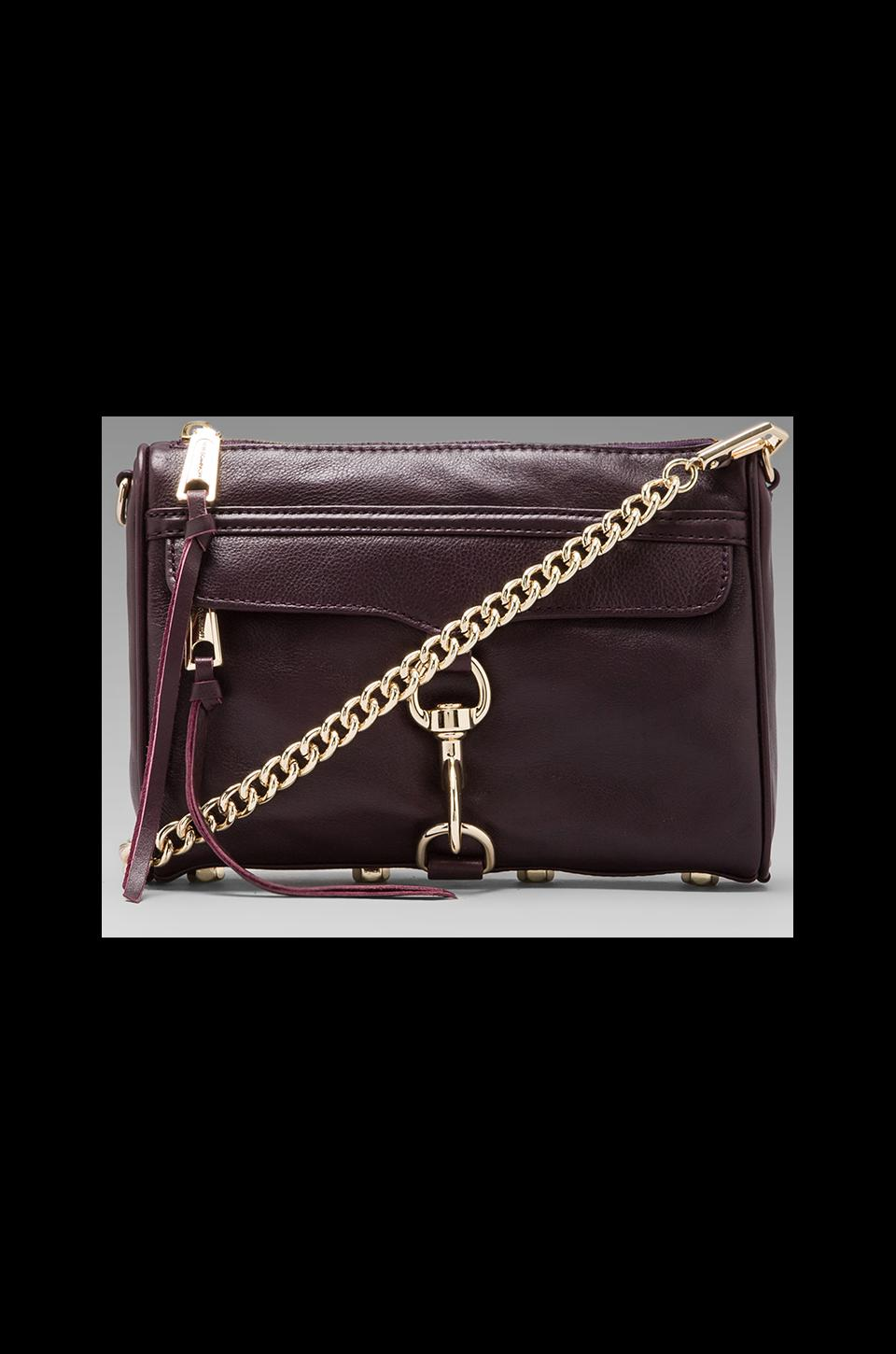 Rebecca Minkoff Mini Mac in Black Cherry