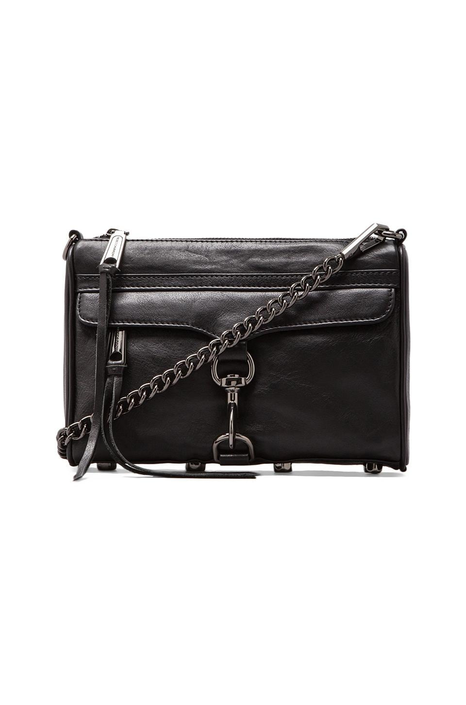 Rebecca Minkoff Mini Mac in Black/Gunmetal
