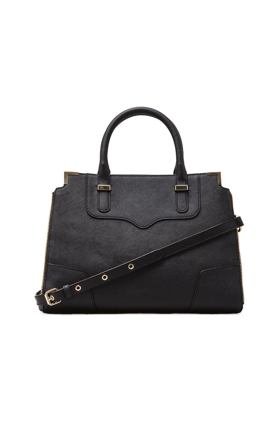 Rebecca Minkoff Amorous Satchel in Black