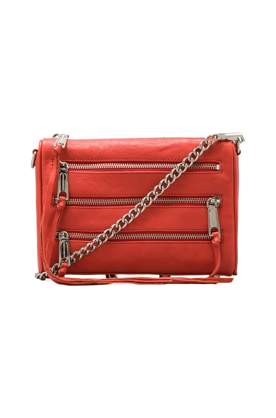 Rebecca Minkoff Mini 5-Zip in Coral