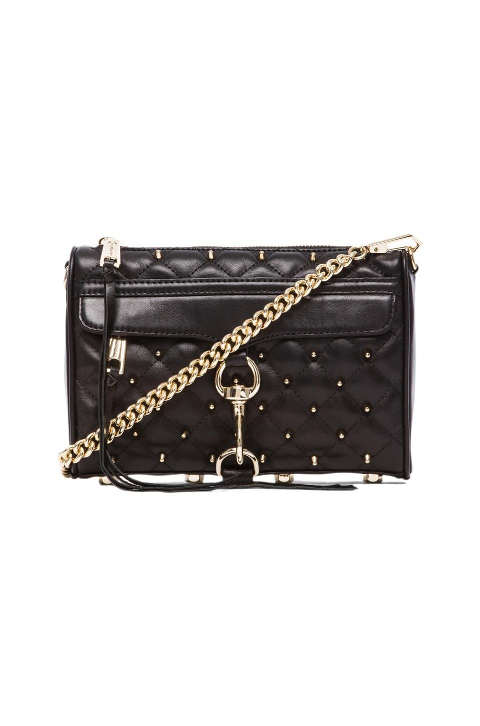 Rebecca Minkoff Mini Mac w/ Studs in Black & Light Gold
