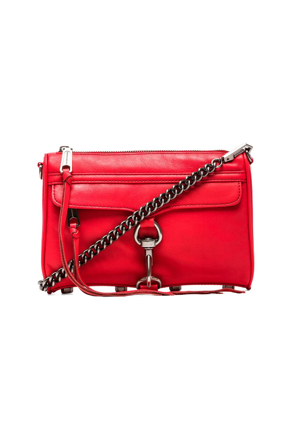 Rebecca Minkoff Mini MAC in Hot Red