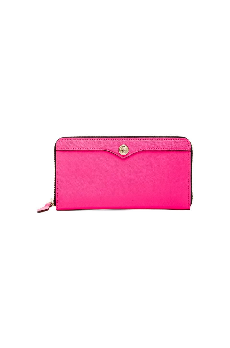 Rebecca Minkoff Luma Large Zip Wallet in Neon Pink