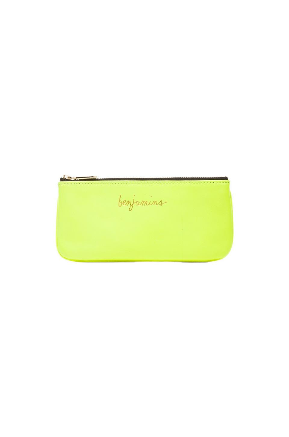 Rebecca Minkoff Benjamins Pouch in Neon Yellow