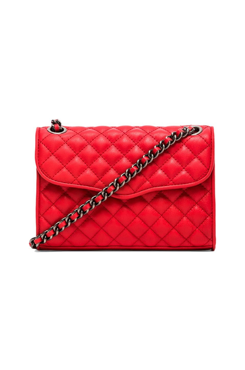 Rebecca Minkoff Quilted Mini Affair in Hot Red