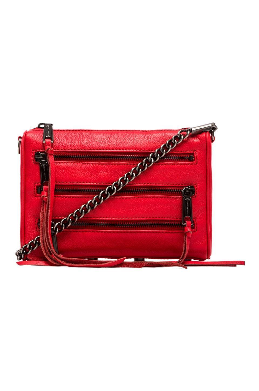 Rebecca Minkoff Mini 5 Zip in Hot Red