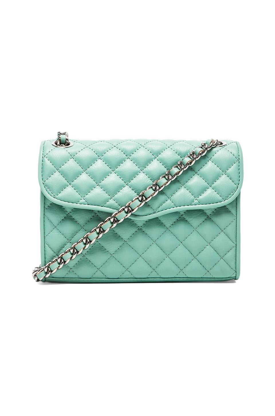 Rebecca Minkoff Quilted Mini Affair in Minty