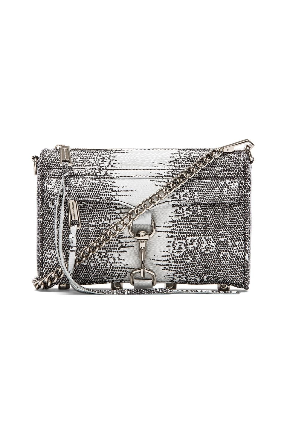 Rebecca Minkoff Printed Lizard Mini MAC in White