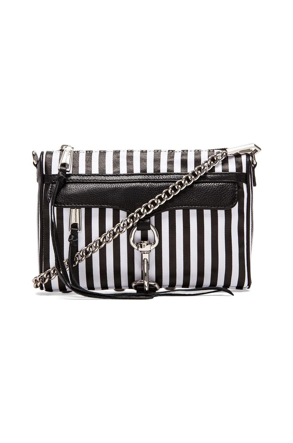 Rebecca Minkoff Mini Mac in Black & White Stripe